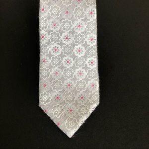 Black brown 1826 silk and linen silver tie